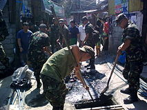 Army Reservists From The 20IBRR Conduct Clean Up Drive CMO At Bgy Old Capitol Site QC