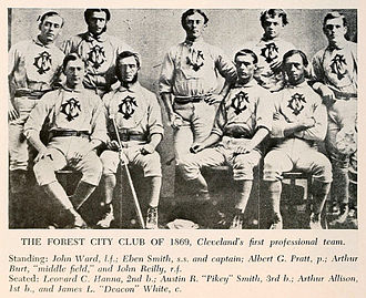 Deacon White - White (bottom right) on the 1869 Cleveland Forest Citys.