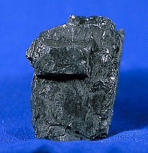 Coal, one of the fossil fuels.