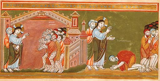 CodexAureus Cleansing of the ten lepers