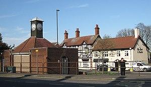 Codnor - Image: Codnor clock and pub