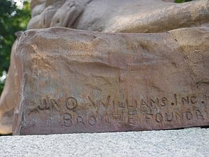 Jno. Williams, Inc. - Image: Col. William Crawford Statue, Connellsville, Pennsylvania