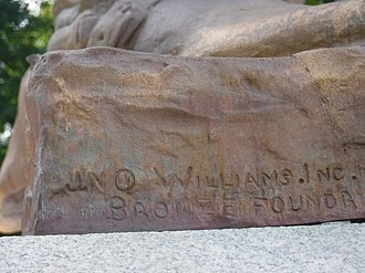 Jno. Williams, Inc. - Image: Col. William Crawford Statue, Connellsville, Pennsylvania