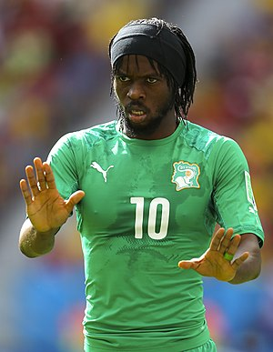 Gervinho - Gervinho playing for Ivory Coast against Colombia at the 2014 FIFA World Cup