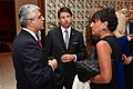 Commerce Secretary Pritzker, Special Representative Nathan chat With Indian businessman before working dinner in New Delhi.jpg