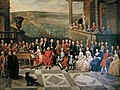 Concert at court of John-Theodore, Prince-Bishop of Liège at the Castle of Seraing, by Paul Joseph Delcloche.jpg