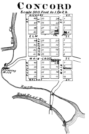 Concord, Tippecanoe County, Indiana - Concord in 1878.