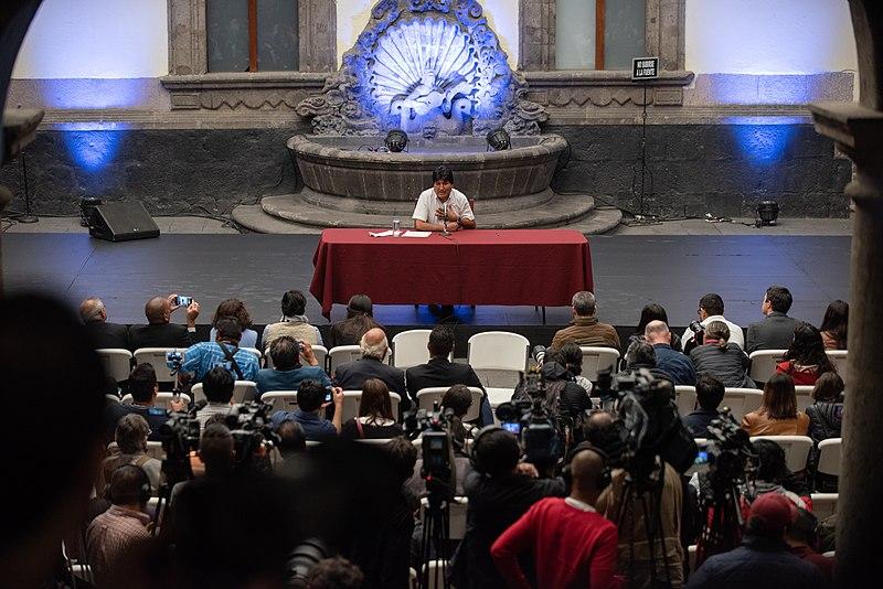 File:Conferencia de Prensa de Evo Morales en el Museo de la Ciudad de México 3.jpg