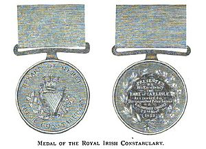 Constabulary Medal (Ireland) - Image: Constabulary Medal version 1