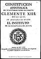 Constitución apostólica de... Clemente XIII en la qual se aprueba el Instituto de la Compañia de Jesús 1765.jpg