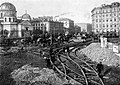 Construction of the tramway junction in Petersburg, 1906.jpg