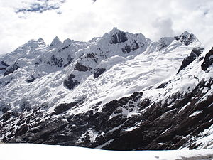 Chacas -  the south peak of Yanarahu which makes a natural border between the provinces Carhuaz and Asunción
