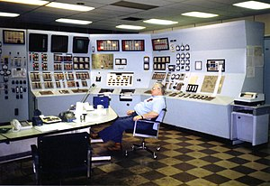 Automatic control - Minimum human intervention is required to control many large facilities such as this electrical generating station.