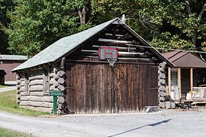National Register of Historic Places listings in Preston County, West Virginia - Image: Coopers Rock State Forest Superintendent's Garage