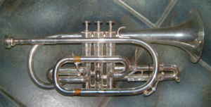 Bore (wind instruments) - Image: Cornet Bb large