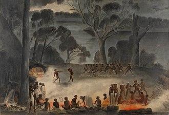 William Blandowski - Image: Corroboree on the Murray River