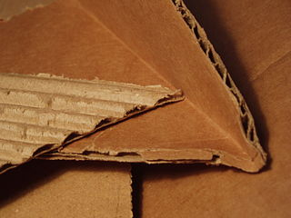 Corrugated fiberboard paper-based material consisting of a fluted corrugated sheet and one or two flat linerboards