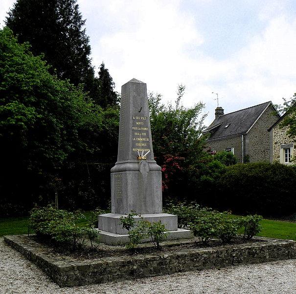 Monument aux morts de Couesmes-en-Froulay, commune de Couesmes-Vaucé (53).