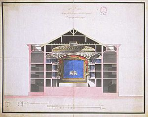Opéra de Dijon - Jacques Cellerier's 1787 plan for Dijon's first purpose-built theatre and opera house