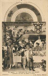 Scène de janvier en noir et blanc, avec un sous-titre, un numéro et l'indication de l'éditeur