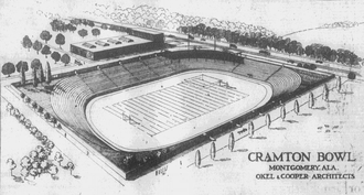 Cramton Bowl - An architect's sketch of Cramton Bowl, 1921