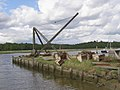 Crane on the quay at Bucklers Hard - geograph.org.uk - 177051.jpg
