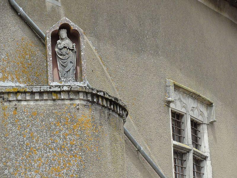 Crantenoy (M-et-M) détail ferme, niche et statue