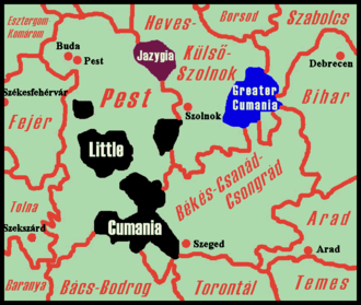 Kunság - Kunság (Cumania) in the 18th century within the Kingdom of Hungary