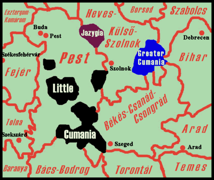 Cumans and Jasz people preserved their regional autonomy (Cumania and Jazygia) until 1876. Cumania-Jazygia-1700s.png