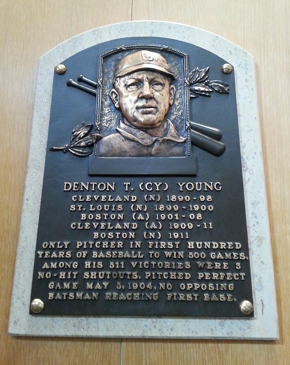 Cy Young HOF plaque