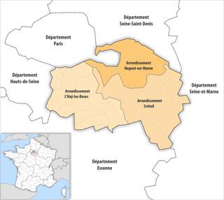 Arrondissements of the Val-de-Marne department