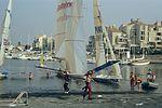 Dériveurs 18 pieds australiens au Salon Nautique International à Flot de La Rochelle 1987 (9).jpg