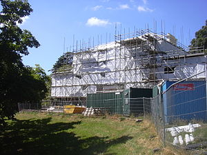 Greenway Estate - The house in July 2008, under restoration