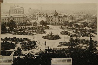 Dalian - Zhongshan Square, then Ōhiroba, ca. 1940. It was initially built in 1898 as Nikolayevskaya Square.