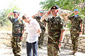 Damien Duff and his brother Sergeant Gerry Duff visit the troops of the Irish 106 Battalion in Tibnine Lebanon (7514358076).jpg