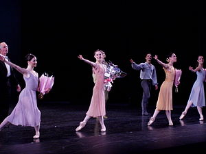 Marianela Núñez - Ballerinas (L-R) Lauren Cuthbertson, Marianela Núñez, Laura Morera and Samantha Raine in Dances at a Gathering, Royal Ballet, 4 June 2008