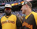 David Ortiz chats with Anthony Rizzo during the T-Mobile -HRDerby. (28291313800).jpg