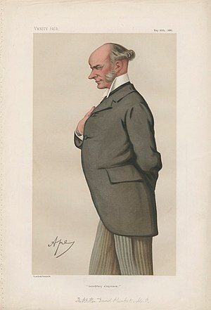"David Plunket, 1st Baron Rathmore - ""hereditary eloquence"" Plunket as caricatured by Ape (Carlo Pellegrini) in Vanity Fair, May 1880"