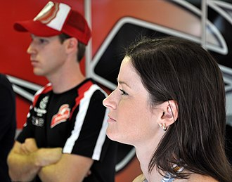 Leanne Tander - Tander (right) in 2010