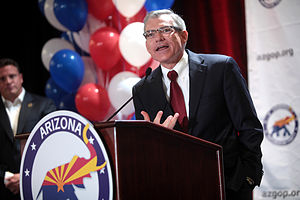 David Schweikert - Congressman Schweikert speaking at a rally in August 2014.