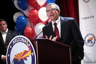 David Schweikert - Congressman Schweikert speaking at a rally in August 2014.