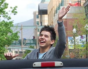 David Archuleta attending his American Idol Ho...