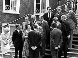 De ministers die deel uitmaken van het derde kabinet Van Agt op de trappen van Paleis Huis ten Bosch in 's-Gravenhage. D - SFA001009248.jpg
