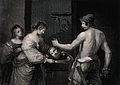 Decapitation of Saint John the Baptist. Stipple engraving by Wellcome V0032496.jpg