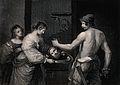 Decapitation of Saint John the Baptist. Stipple engraving by Wellcome V0032496.jpg