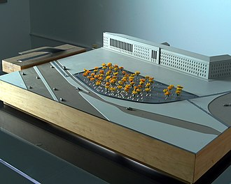 """Pentagon Memorial - """"Light Benches"""", the winning design of the Pentagon Memorial announced at a Pentagon press conference on March 3, 2003"""