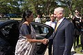 Defense Secretary Jim Mattis meets with the Indian Defence Minister Nirmala Sitharaman in Clark, Philippines.jpg