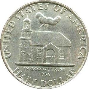 Delaware Tercentenary half dollar - Obverse