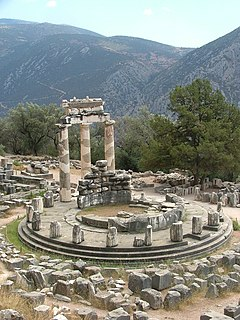 building in Delphi, Central Greece Region, Greece