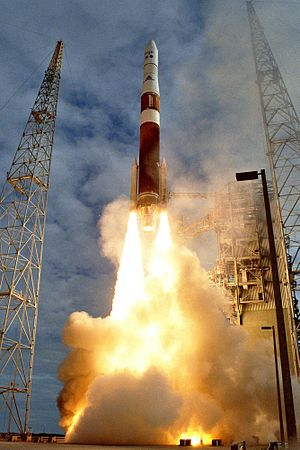 Geostationary Operational Environmental Satellite - The launch of GOES-N, which was renamed GOES-13 after attaining orbit